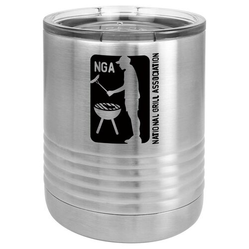NATIONAL GRILL ASSOCIATION 10 oz Lowball Tumbler with Lid