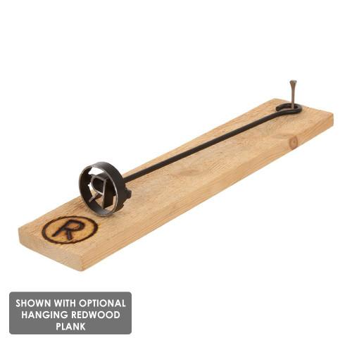 Arrowhead BBQ Branding Iron with plank