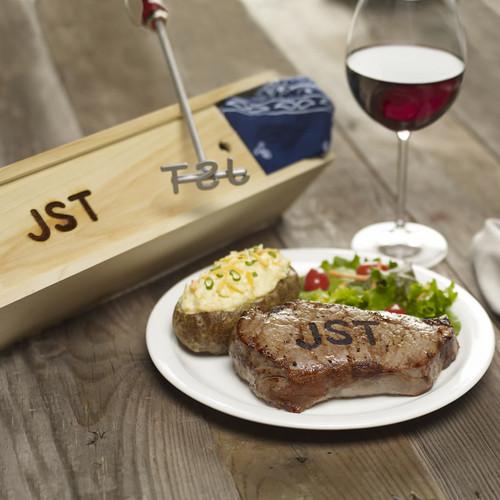 4 Letter Branding Iron For Steak, Wood & Leather
