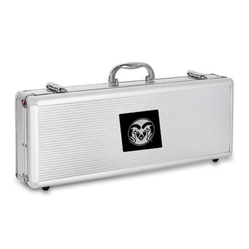 Colorado State Rams BBQ Tools and Engraved Case