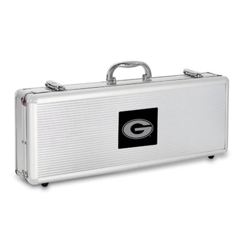 Georgia Bulldogs BBQ Tools and Engraved Case