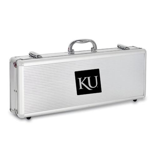 Kansas Jayhawks BBQ Tools and Engraved Case