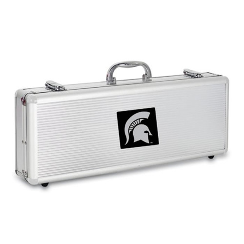 Michigan State Spartans BBQ Tools and Engraved Case