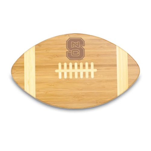 North Carolina State Wolfpack Engraved Football Cutting Board