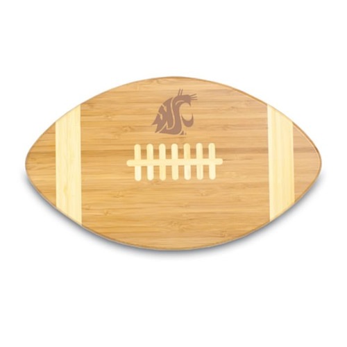 Washington State Cougars Engraved Football Cutting Board