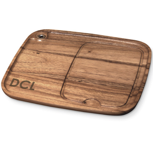 Personalized wood steak plate