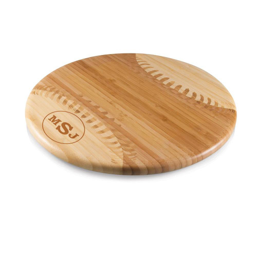 Circle Monogram Baseball Cutting Board