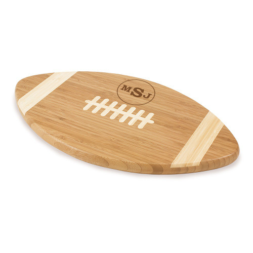 Circle Monogram Football Cutting Board