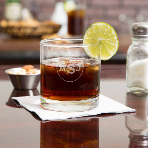 Circle Monogram Whiskey Glass