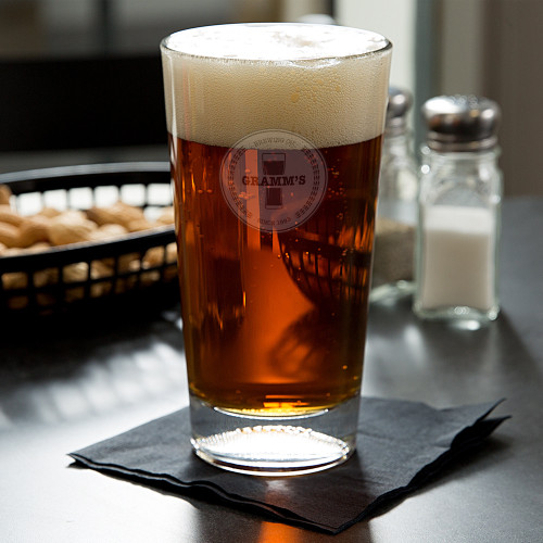 Classic Brewery Personalized Football Beer Glass