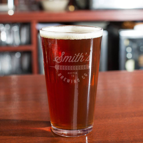 Craft Brew Personalized Beer Glass