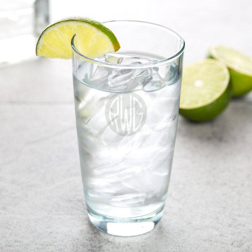 Solid Circle Monogram Hi-Ball Glass