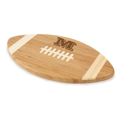 Vienta Initial Personalized Football Cutting Board