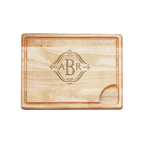 Vintage Monogram Carving Board