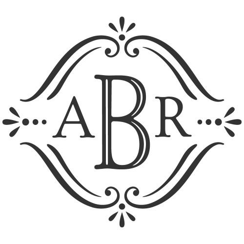 vintage monogram laser engraved design