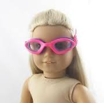 Pink Swim Goggles for 18 in American Girl Dolls