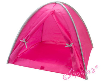 Hot Pink and Silver Tent For 18 inch Dolls. Fits American Girl Doll.s