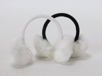 All White Furry Earmuffs