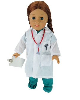 Dr. Scrub's With Clipboard and Stethoscope