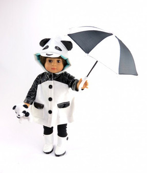 5 PC Panda Rainset For Your American Girl Doll