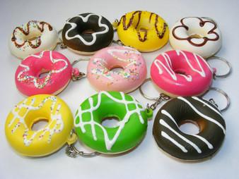 Squishy Donut Keyring. Assorted Colors Chosen Randomly.