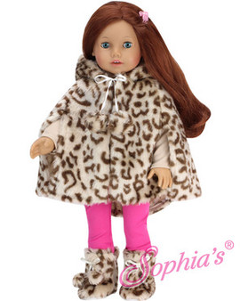 Animal Print Cape & Boots For American Girl Dolls