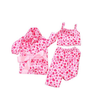 5 Piece Heart Pajamas Set For American Girl Dolls
