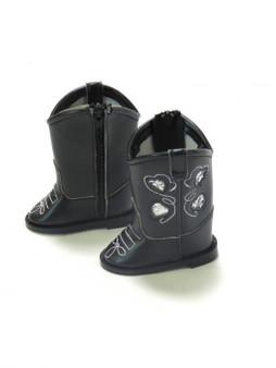 Black Glitter Cowboy Boots