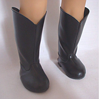 Black Riding Boots for 18 inch American Girl Dolls