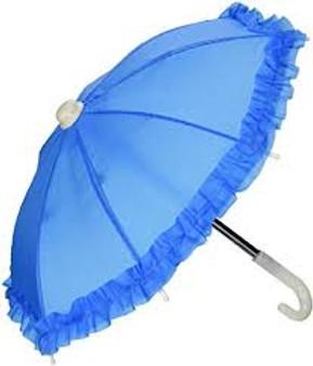Blue Umbrella for 18 inch American Girl Dolls