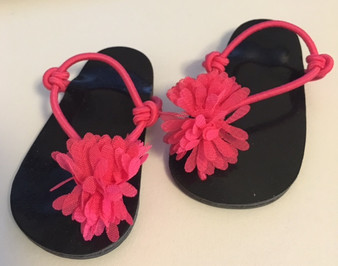 Hot Pink Chiffon Sandals for 18 inch American Girl Dolls