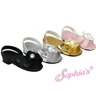 Gold Sparkle Kitten Heels for 18 in American Girl Dolls