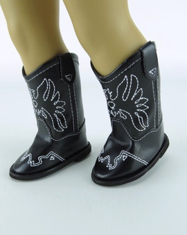 Black Eagle Cowboy Boots for 18 inch American Girl Dolls