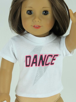 Dance T-Shirt for 18 inch American Girl Dolls
