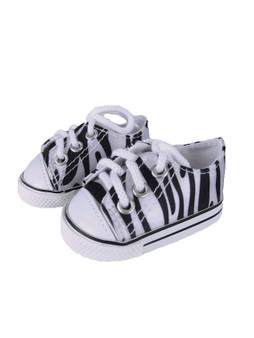 Zebra Sneakers for 18 inch American Girl Dolls