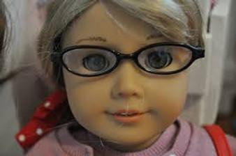Black Eyeglasses for 18 inch American Girl Dolls
