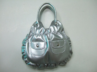 Silver Metallic Purse for 18 inch American Girl Dolls