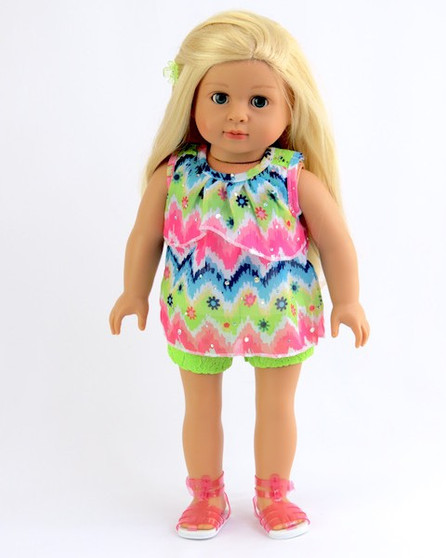 Bright Shorts Set For American Girl Dolls