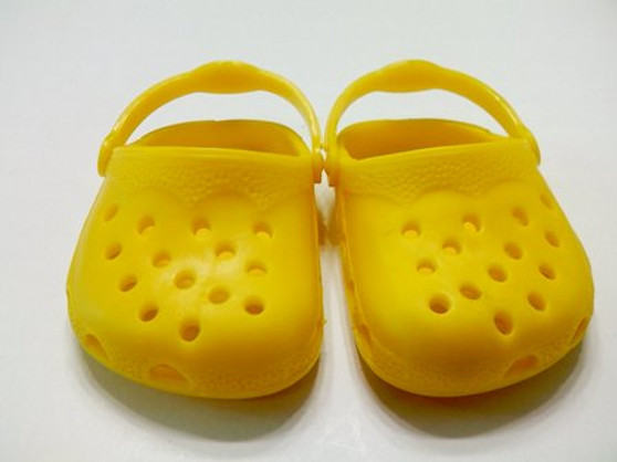 Yellow Croc Like Sandals for Your American Girl Doll