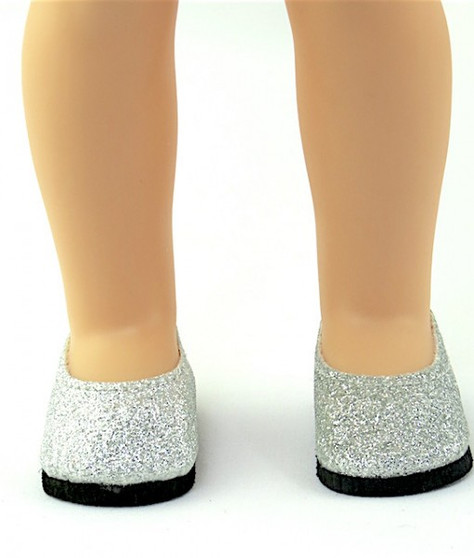 Silver Glitter Shoes For Wellie Wishers