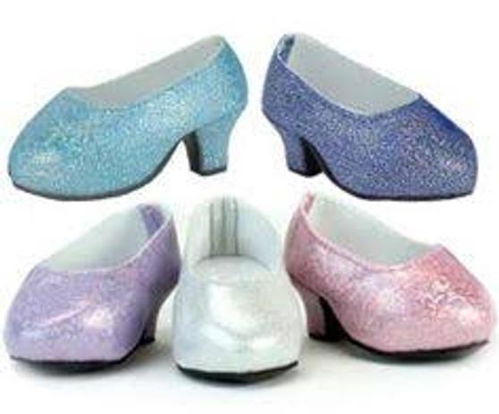 Light Pink Glitter Platform Shoes