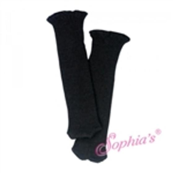 black knit knee high socks