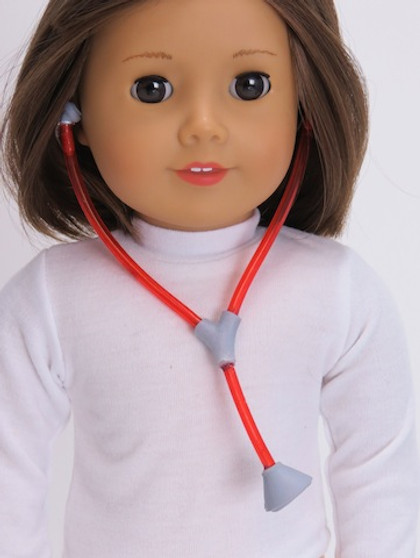 Red Stethoscope for 18 in American Girl Dolls