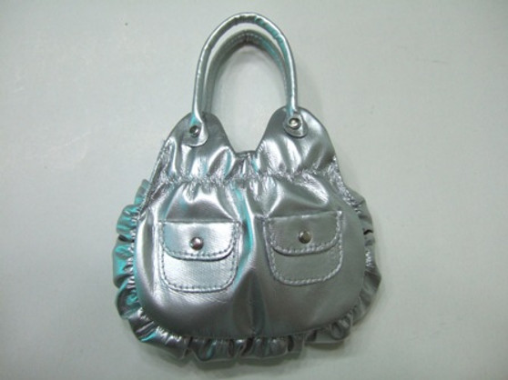 Silver Metallic Purse for 18 inch American Girl Dolls