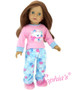 2 PC Polar Bear Pajamas For Your American Girl Doll. Comes With Slippers.