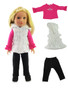 Black & White Puffer Pants Set For Wellies