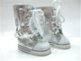 Silver Knee High Sneaker Boots for 18 inch American Girl Dolls
