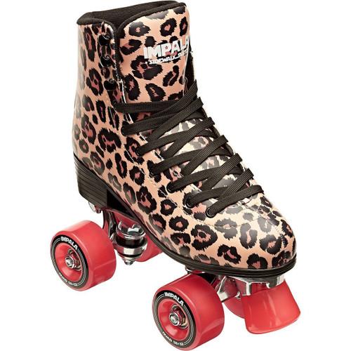Impala Quad Roller Skates Leopard