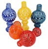 """XL Flat Top """"Tornado"""" Bubble Carb Cap Assorted Colors"""