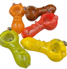 2.5 Inch Frit Knob Pipes in Assorted Colors